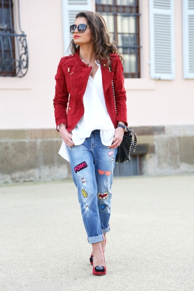 patches jeans